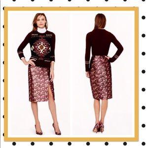J.crew collection metallic pencil skirt